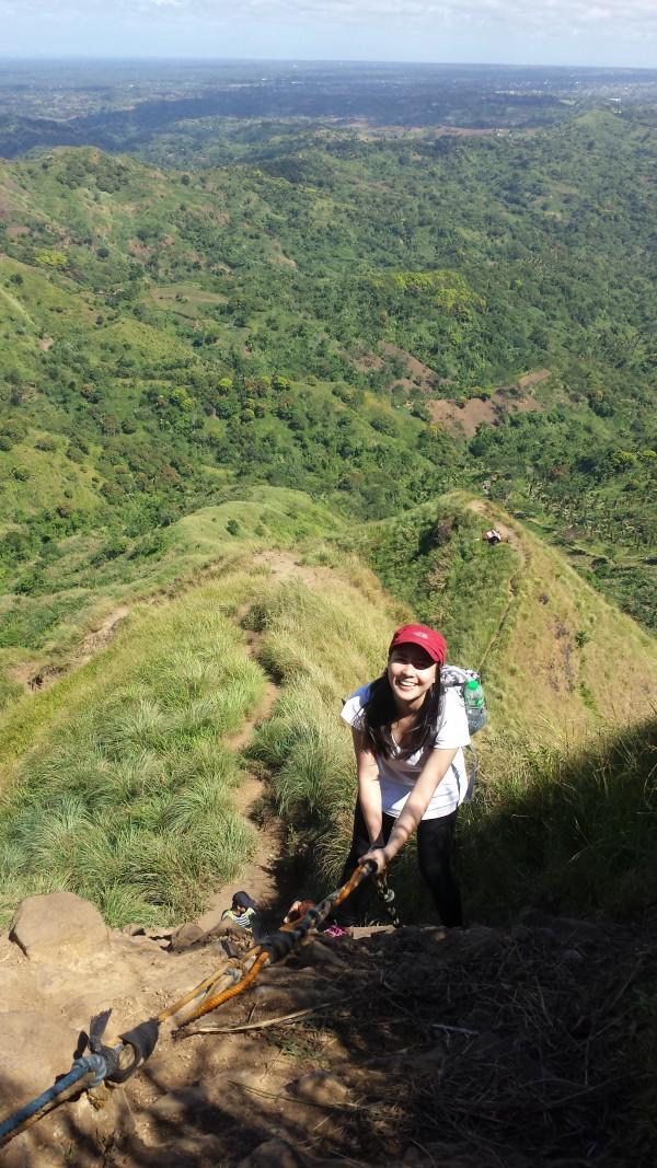 My friend here enjoys the short adventure of rock climbing