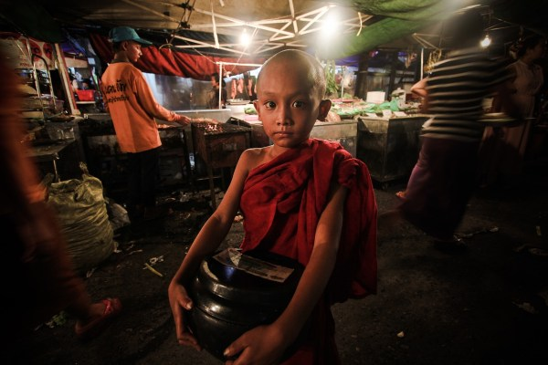 Novice Monk in Myanmar