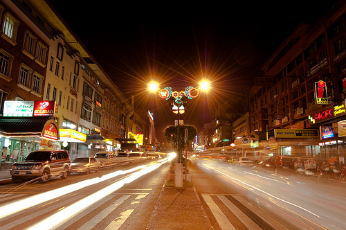 Session Road at Night by Lendl Peralta via Flickr