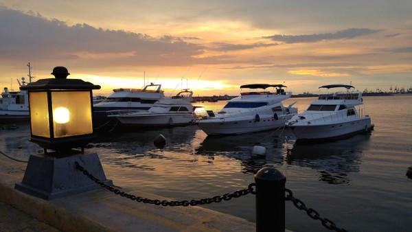 Sunset in Manila Yacht Club