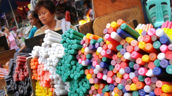 Candle Peddler in Quiapo Church