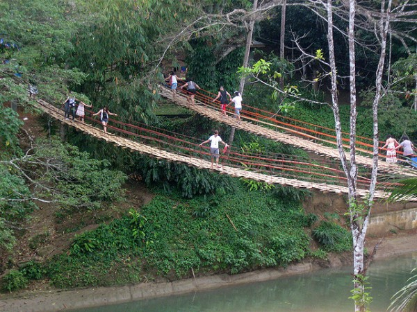 Hanging Bridge in Loboc Bohol by Gabriel via Flickr