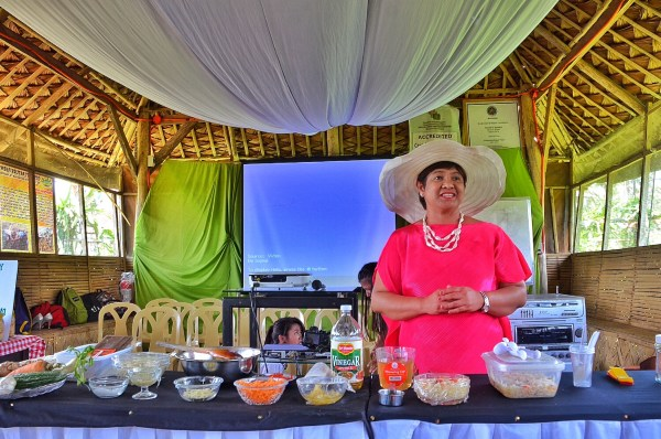 Mrs Josephine Costales giving a short talk about Agri-Tourism