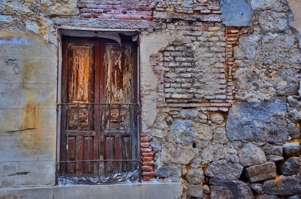 Old Abandoned House inside the Walls of Avila