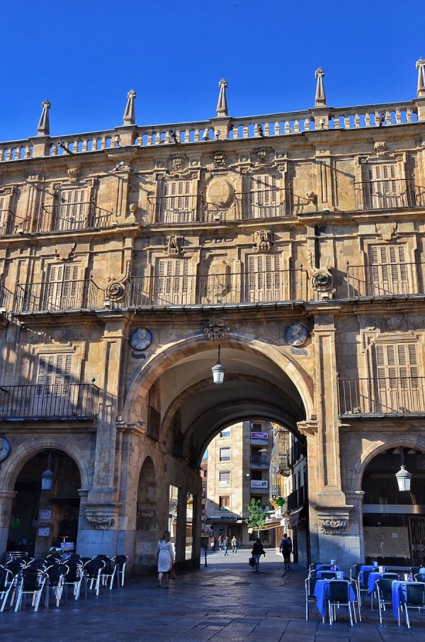 One of the gates in Plaza Mayor in Salamanca