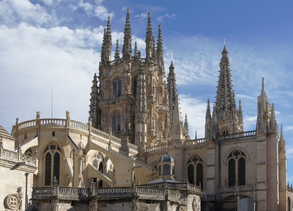 Gothic-style Roman Catholic cathedral in Burgos, Spain