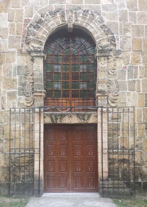 One of the side doors in Miagao Church. A perfect frame for photo opp.