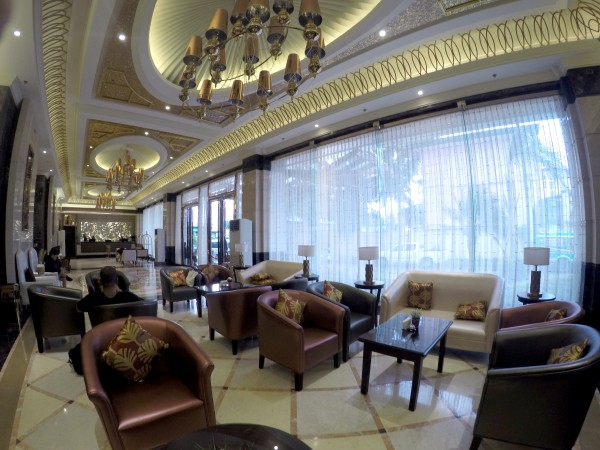 grand lobby at Central Park Tower