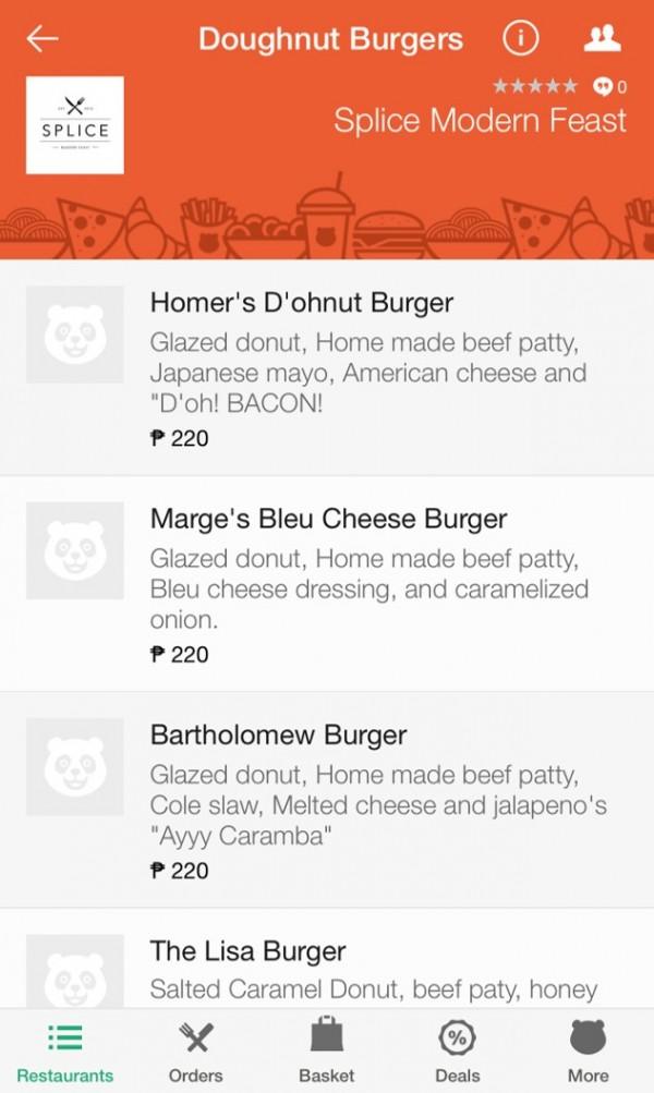foodpanda App Splice