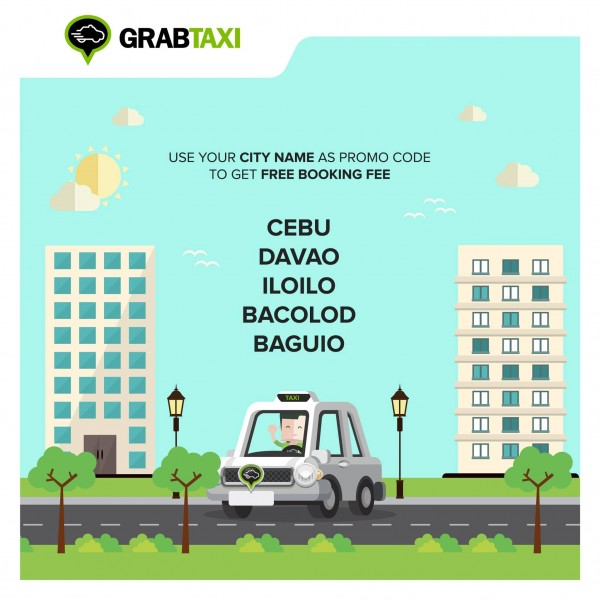 GrabTaxi Philippines Free Booking Fee September 2015