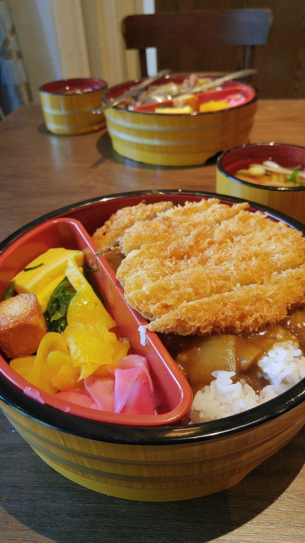 Pork cutlet in japanese curry sauce at Everland