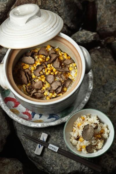 Zipangu Restaurant Rice with Corn and truffles