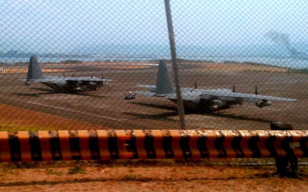 Military aircraft at Clark Airbase