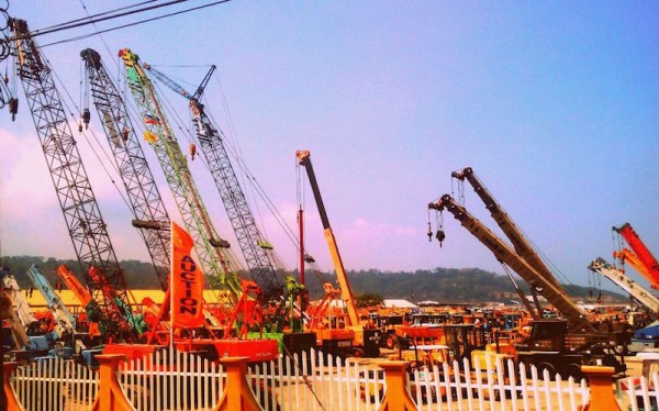 Mobile cranes for auction in Subic