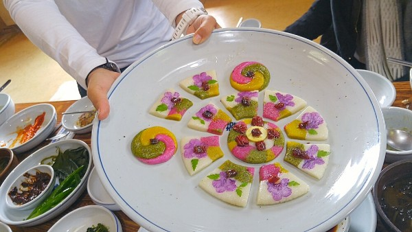 A plate of Wha Jeon