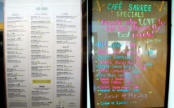 Cafe Sarree Menu and Specials