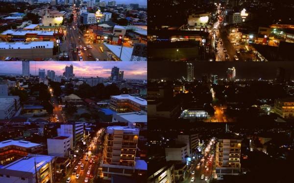 Cebu skyline at dusk and night