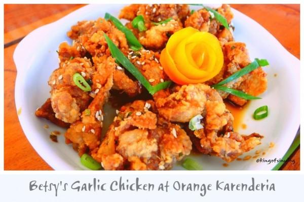 Betsys Garlic Chicken at Orange Karinderia