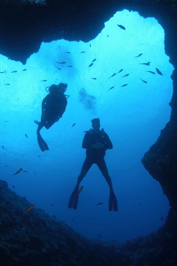 Blue Hole Dive Spot in Guam