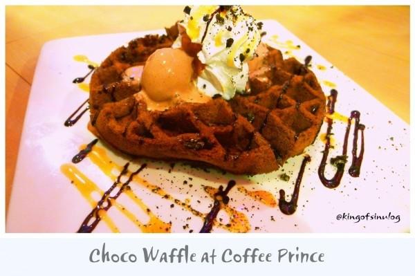 Choco Waffle at Coffee Prince