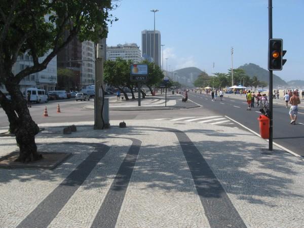 Copacabana beach promenade