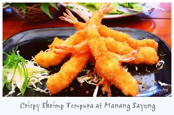 Crispy Shrimp Tempura at Manang Sayong