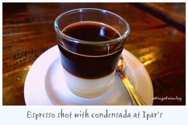 Espresso Shot with Condensada at Ipars