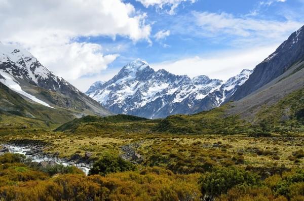 Mount Cook in New Zealand