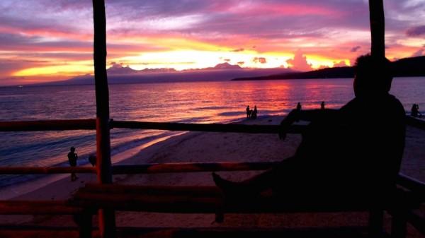 Mesmerizing sunset at the sand bar