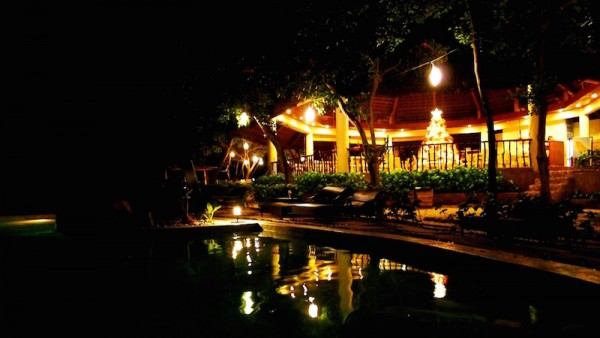 The Pavilion Restaurant at night