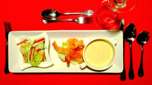 Appetizer, soup and salad