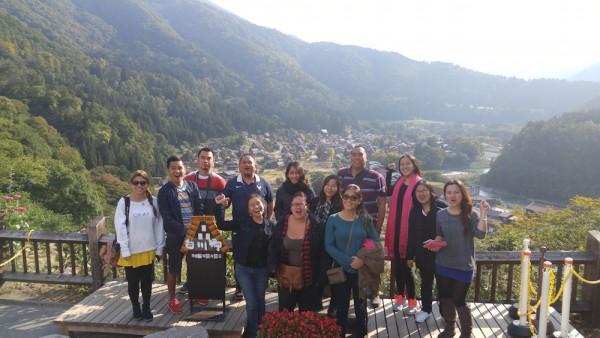 Group Photo at Shiroyama Tenshukaku Tenbodai