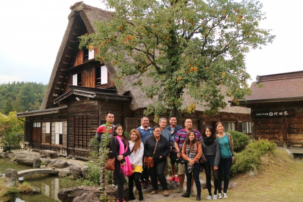 Group Photo outside Kanda House with Mr Kanda