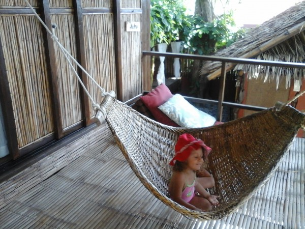 Hammock playtime at the veranda