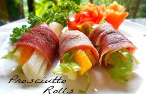Proscuitto Rolls at Secret Garden Resto and Cafe
