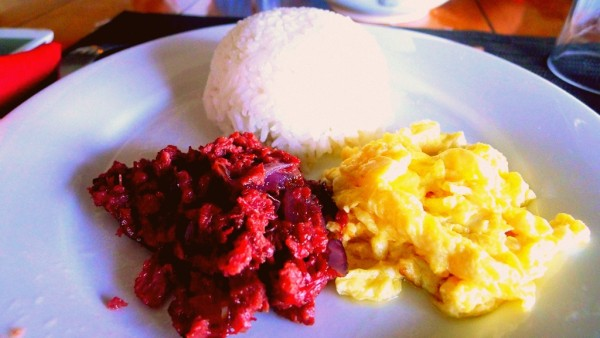 Cornsilog for breakfast
