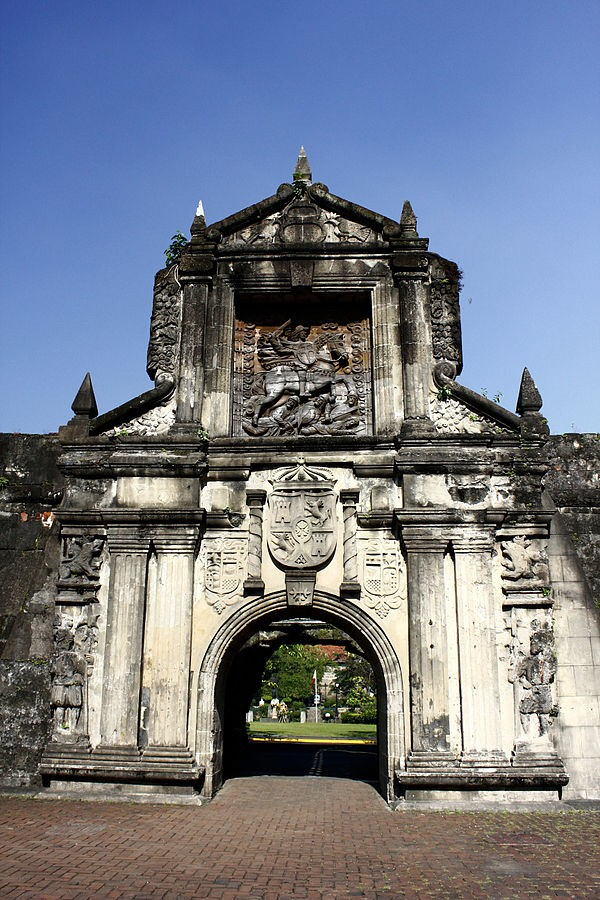 Gate of Fort Santiago in Intraburos photo by Igel Manalo Own work, CC BY-SA 3.0 Wikimedia Commons