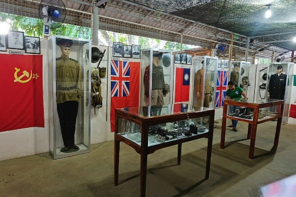 Original and Replica Uniform of WWII Soldiers