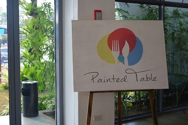 Painted Table Signage