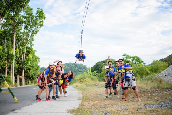 Participants at Balungao Hilltop Adventure