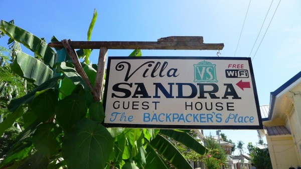 Villa Sandra Guest House Signage outside