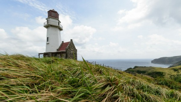 Beautiful landscape view of Sayid Lighthouse located at Batanes Island, Philipines. It has climate environment and now very popular as a tourist attraction.