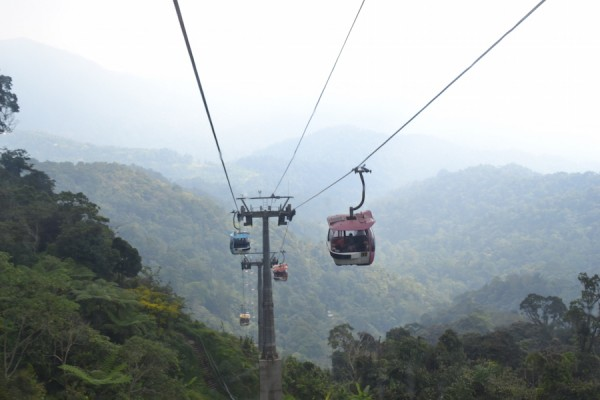 cable car ride to and from Genting Highlands