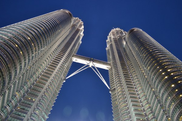 worm's eyeview of Petronas Twin Towers