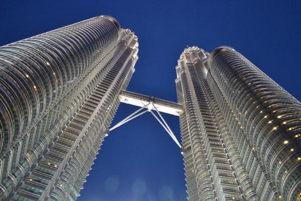 worm's eyeview of Petronas Twin Towers