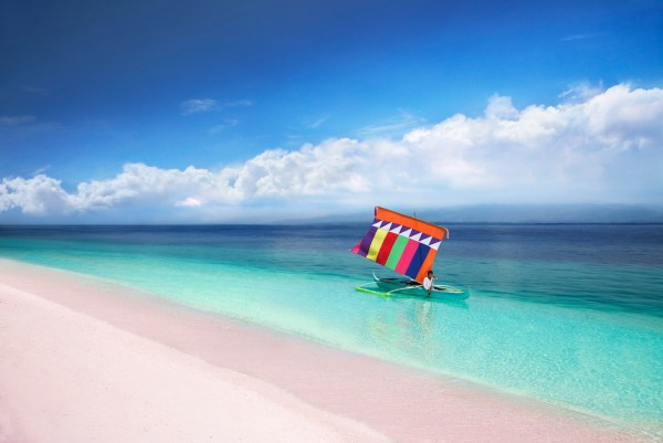 Pink Beach in Sta Cruz Island