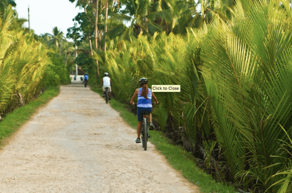 Touring Loboc town with avid mountain bikers