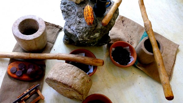 Traditional mortar and pestle