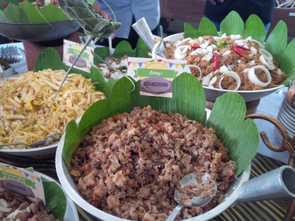 Varieties of sisig line the tables during the Sisig Fiesta. My most most favorite was tinapa sisig.