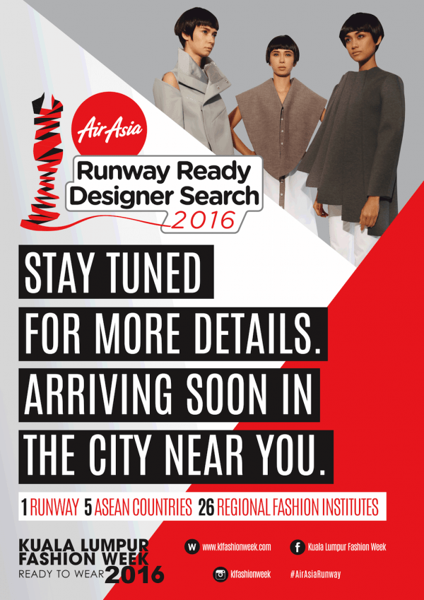 AirAsia Runway Ready Designer Search 2016 Poster